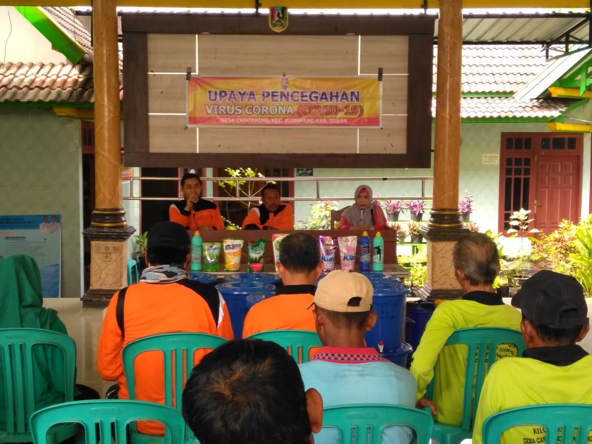 Upaya Pencegahan Novel coronavirus (COVID-19) di Desa Cangkring-Kec. Plumpang-Kab. Tuban