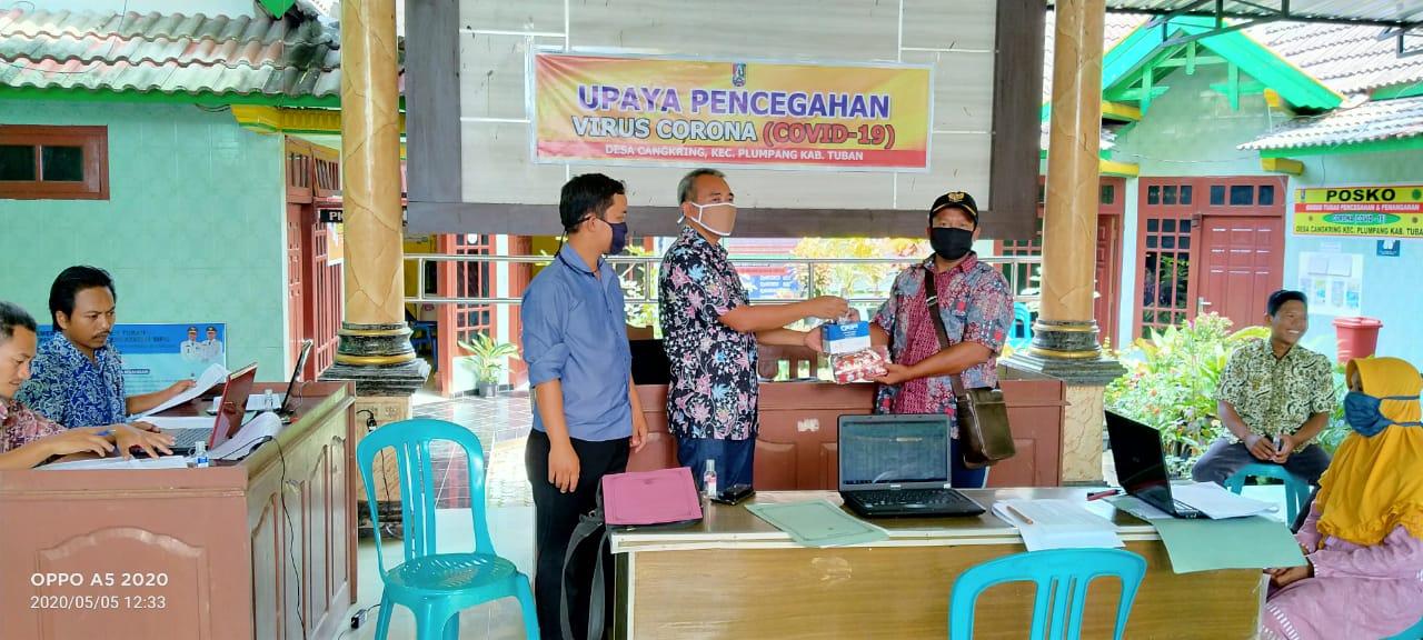 Kunjungan DPRD Kabupaten terkait Virus Corona di desa Cangkring - Plumpang - Tuban