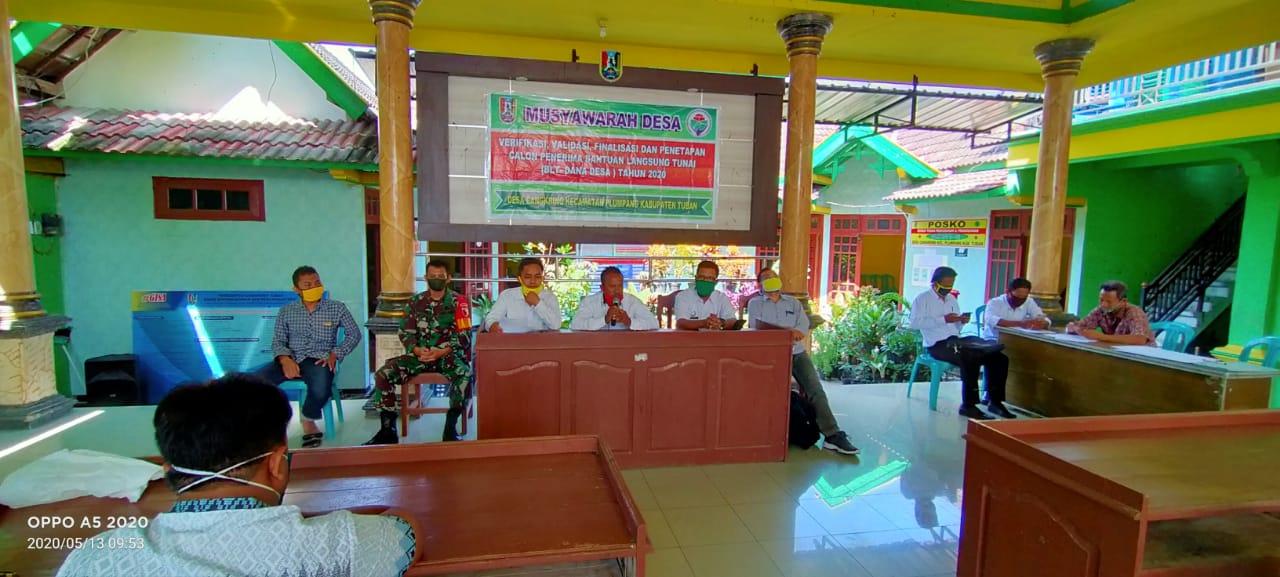 Mudes Verifikasi,Validasi Finalisasi dan Penetapan Bantuan Langsung Tunai DD Desa Cangkring TA 2020