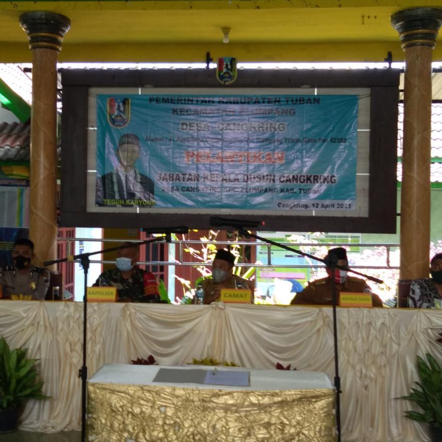 Pelantikan Kepala Dusun Cangkring
